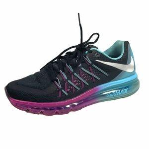 Nike Air Max 2015 Running Shoes Black Blue Pink 9